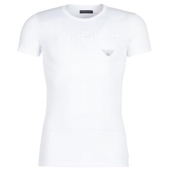 Oblečenie Muži Tričká s krátkym rukávom Emporio Armani CC716-111035-00010 Biela