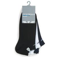 Textilné doplnky Muži Ponožky Emporio Armani CC134-300008-00997 Biela / Čierna / Námornícka modrá