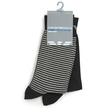 Textilné doplnky Muži Ponožky Emporio Armani CC114-302302-00020 Čierna