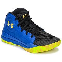 Topánky Deti Basketbalová obuv Under Armour GS JET 2019 Modrá / Žltá