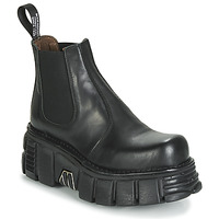 Topánky Polokozačky New Rock M-1554-C1 Čierna