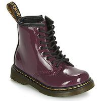 Topánky Dievčatá Polokozačky Dr Martens 1460 PATENT TODDLER Fialová