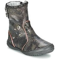 Topánky Dievčatá Čižmy do mesta Catimini CLABAUD Bronzová / Čierna