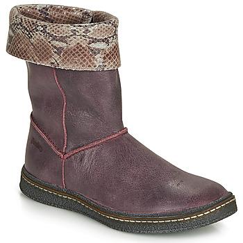 Topánky Dievčatá Čižmy do mesta Ramdam CRACOVIE Bordová