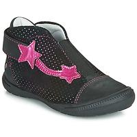 Topánky Dievčatá Polokozačky GBB NOLWENN Čierna / Ružová