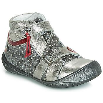Topánky Dievčatá Polokozačky GBB NADETTE Strieborná