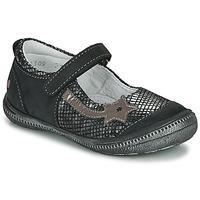 Topánky Dievčatá Balerínky a babies GBB NYOKO Čierna / Strieborná