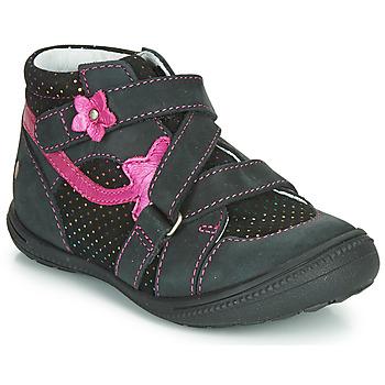 Topánky Dievčatá Polokozačky GBB NINA Čierna / Ružová