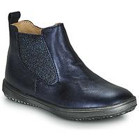 Topánky Dievčatá Polokozačky Achile SARA Námornícka modrá