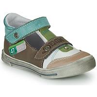 Topánky Chlapci Sandále GBB PEPINO Hnedá / Béžová / Zelená