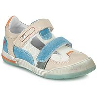 Topánky Chlapci Nízke tenisky GBB PRINCE Biela / Béžová / Modrá