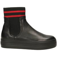 Topánky Ženy Polokozačky Tosca Blu BARROW c99-nero