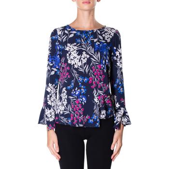 Oblečenie Ženy Košele a blúzky Luckylu BLUSA STMPA CON PENN 0405-navy
