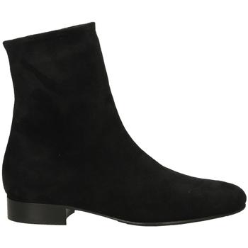 Topánky Ženy Polokozačky Lorenzo Masiero STRECH VELOUR nero-nero