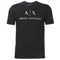 Oblečenie Muži Tričká s krátkym rukávom Armani Exchange 8NZTCJ-Z8H4Z-1200 Čierna