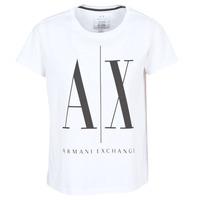 Oblečenie Ženy Tričká s krátkym rukávom Armani Exchange 8NYTCX-YJG3Z-5102 Biela