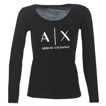 Oblečenie Ženy Tričká s dlhým rukávom Armani Exchange 8NYTDG-YJ16Z-1200 Čierna