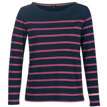 Oblečenie Ženy Tričká s dlhým rukávom Armor Lux BRIAN Námornícka modrá / Ružová