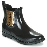 Topánky Ženy Čižmy do dažďa Guess REKHA3 Čierna / Zlatá