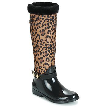 Topánky Ženy Gumaky Guess CICELY Čierna / Leopard