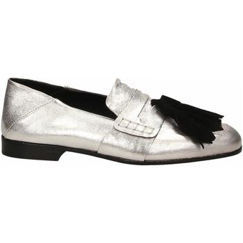 Topánky Ženy Mokasíny Lemaré CAMOSCIO/LAMINATO argento-nero