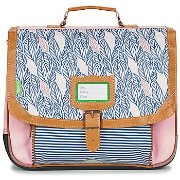 Tašky Dievčatá Školské tašky a aktovky Tann's CREATION FLORE CARTABLE 38 CM Ružová