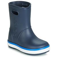 Topánky Deti Čižmy do dažďa Crocs CROCBAND RAIN BOOT K Námornícka modrá