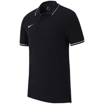 Oblečenie Muži Polokošele s krátkym rukávom Nike Polo TM Club 19 Čierna