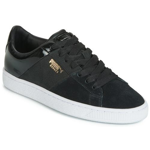 Topánky Ženy Nízke tenisky Puma BASKET REMIX Čierna / Zlatá