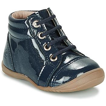 Topánky Dievčatá Polokozačky Citrouille et Compagnie NICOLE.C Námornícka modrá / Trblietkavá