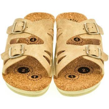 Topánky Ženy Šľapky Mjartan Dámske papuče  FELISHA béžová