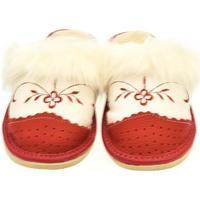 Topánky Ženy Papuče John-C Dámske bielo-červené papuče VLASY červená
