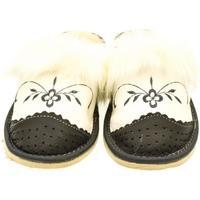Topánky Ženy Papuče John-C Dámske bielo-sivé papuče VLASY tmavosivá