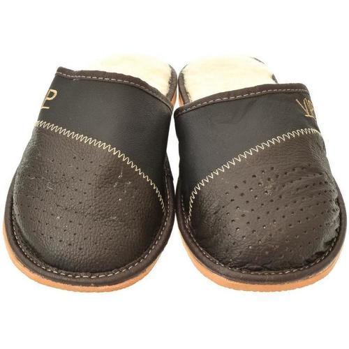 ede6220a8 John-C Pánske tmavo-hnedé papuče VIPMEN hnedá - Topánky Papuče Pani ...