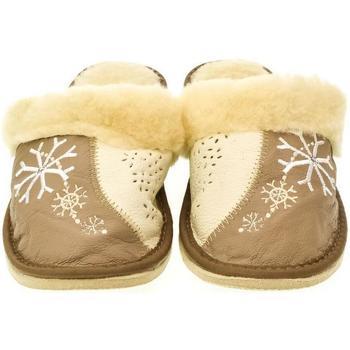 Topánky Ženy Papuče John-C Dámske béžovo-hnedé papuče SNOW ťavia