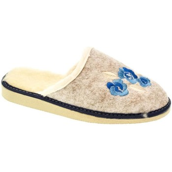 Topánky Ženy Papuče John-C Dámske béžovo-modré papuče KVETY modrá