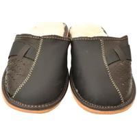 Topánky Muži Papuče John-C Pánske hnedo-modré papuče JOSEFF hnedá
