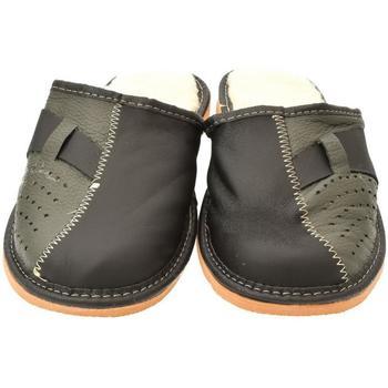Topánky Muži Papuče John-C Pánske sivo-modré papuče JOSEFF tmavosivá
