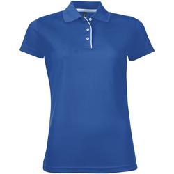 Oblečenie Ženy Polokošele s krátkym rukávom Sols PERFORMER SPORT WOMEN Azul