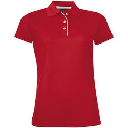 Oblečenie Ženy Polokošele s krátkym rukávom Sols PERFORMER SPORT WOMEN Rojo