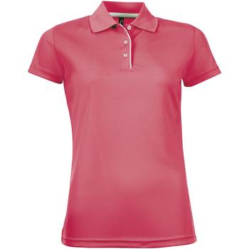 Oblečenie Ženy Polokošele s krátkym rukávom Sols PERFORMER SPORT WOMEN Rosa