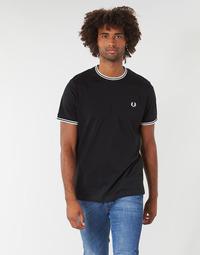 Oblečenie Muži Tričká s krátkym rukávom Fred Perry TWIN TIPPED T-SHIRT Čierna