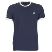 Oblečenie Muži Tričká s krátkym rukávom Fred Perry TAPED RINGER T-SHIRT Námornícka modrá