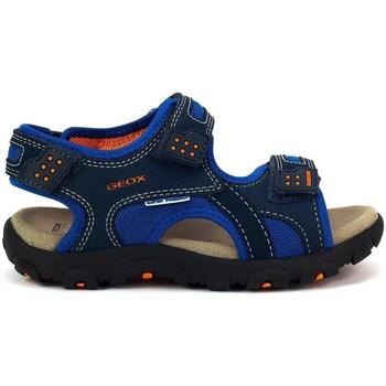 Topánky Deti Športové sandále Geox JR Strada Tmavomodrá