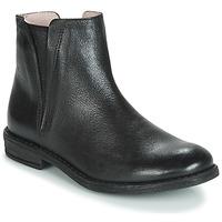 Topánky Dievčatá Polokozačky Acebo's 9671-NEGRO-T Čierna