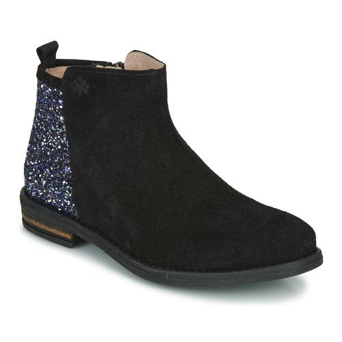 Topánky Dievčatá Polokozačky Acebo's 8035-NEGRO Čierna