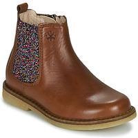 Topánky Dievčatá Polokozačky Acebo's 5274-CUERO Hnedá