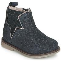 Topánky Dievčatá Polokozačky Acebo's MAKALU Modrá