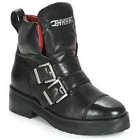 Topánky Ženy Polokozačky Bronx GAMLETT Čierna