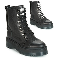 Topánky Ženy Polokozačky Bronx RIFKA SUPER CHUNKY Čierna